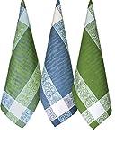 Armani International Manifica Dish Kitchen Towels Blend of Linen Cotton Tea Towel 20 x 28 inch Set of 3