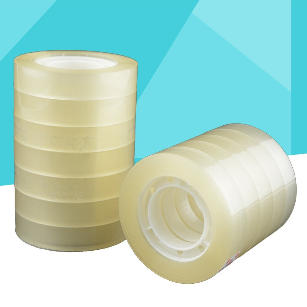 TOYMYTOY 40 Rolls Transparent Tape Clear Packing Tape for Office Home Use School Stationery,7/10 inch by TOYMYTOY (Image #9)