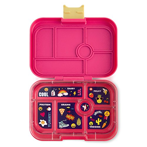 YUMBOX (Kawaii Pink; Emoji Tray) Leakproof Bento Lunch Box Container for Kids