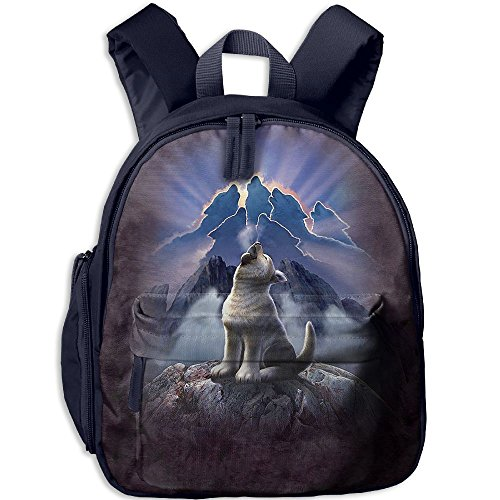 Small School Backpack Creating With Mountain Wolf For Kindergarten Unisex Kids - Angeles Oxford Los Street
