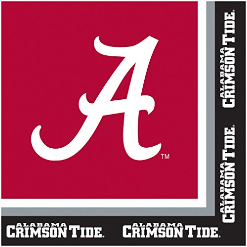Creative Converting 660697 Napkins University of Alabama Crimson Tide,20 Count -