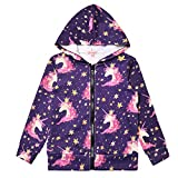 Unicorn Hoodie for Girls Zip Up Coat Outdoor Clothes