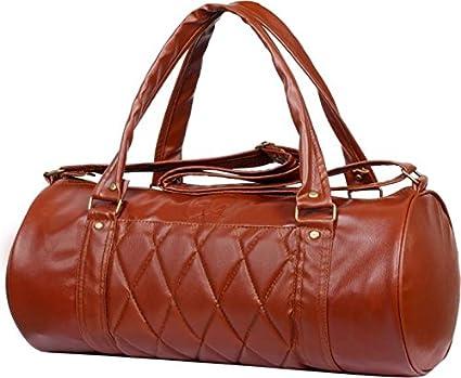 Zyamalox ® Vintage Leather Rite Duffel Gym Bag (Brown) 54318071c2b2c