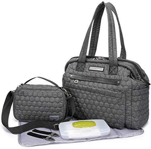 quilted diaper bag - 1
