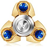 VHEM Fidget Spinner Titanium Premium Hand Spinner EDC Toy Up to 5min High Speed Relieves Stress and Anxiety For ADD,ADHD,ASD,OCD,Golden