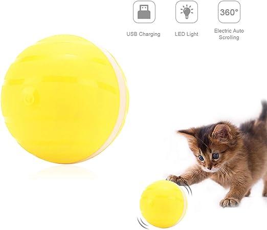 Pelota de Juguete automática para Perro Gato, Recargable por USB ...