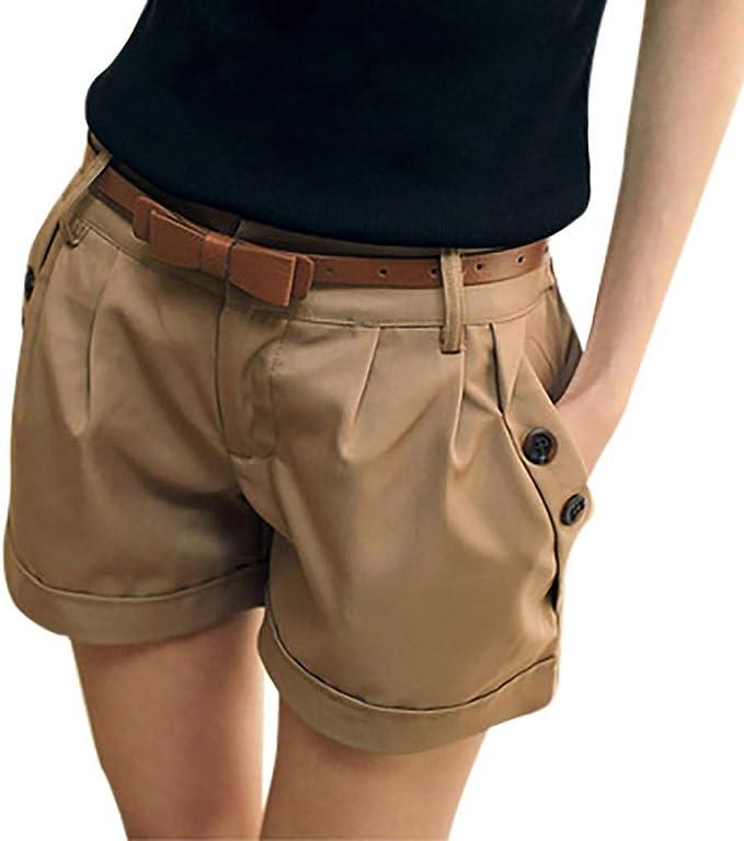 Vero Moda Vmhot Seven Nw DNM Fold Shorts Color Pantalocini Denim Donna