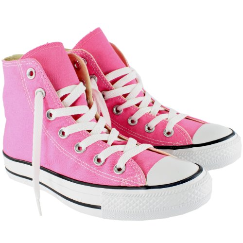 Womens Converse All Star Hi High Top Chuck Taylor Chucks Trainers - Pink - 8