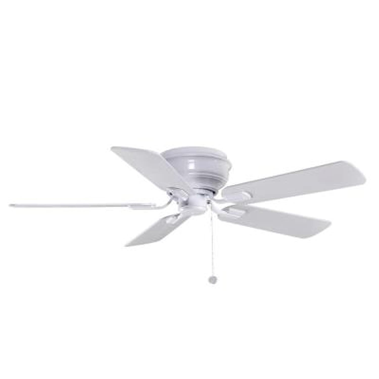 Hampton Bay Yg204 Wh Hawkins 44 White Ceiling Fan Flush Mount Fans Com