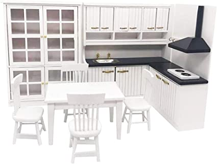 1:12 Miniature Black shelf dollhouse diy doll house decor accessories LP