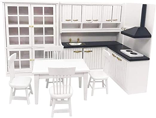 Dolls House Miniture Kitchen Room Furniature for 1:12th Dollhouse Decoration