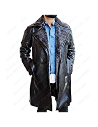 Blade Ryan Runner 2049 Gosling Trench Coat - Officer K 2 Black Real Leather Jacket