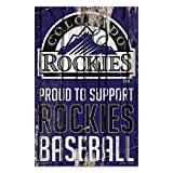 Colorado Rockies Sign 11x17 Wood Proud to Support Design