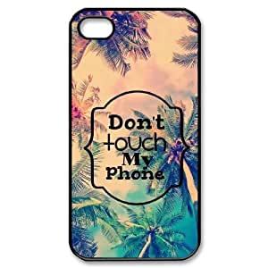 Lycase(TM) Don't touch my phone Custom Cover Case, Don't touch my phone Iphone 4,4S Case