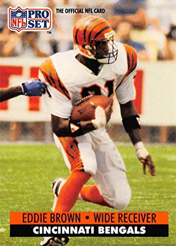 1991 Pro Set Football Card #461 Eddie Brown Cincinnati Bengals Official NFL Trading Card