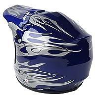 XFMT Youth Kids Motocross Offroad Street Dirt Bike Helmet Goggles Gloves Atv Mx Helmet Blue Flame M from XFMT