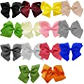 Grosgrain Bow Clip - Extra Large Bows with Alligator Clips by CoverYourHair