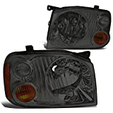 Nissan NP300 Brake Kits - DNA Motoring Smoked amber HL-OH-074-SM-AM Pair of Headlight Assembly [01-04 Nissan Frontier]