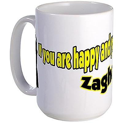 CafePress - Happy Zahgareet! Large Mug - Coffee Mug, Large 15 oz. White Coffee Cup