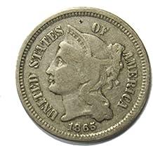 1865 Three Cent Nickel 3¢ Fine