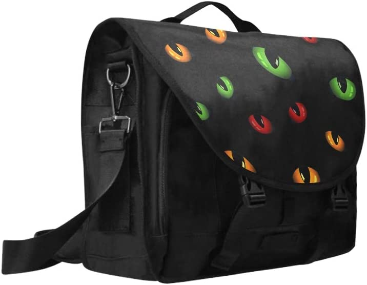 Computer Carry Case Animals Eyes Glow in The Dark Multi-Functional Laptop Briefcase Handbag Fit for 15 Inch Computer Notebook MacBook