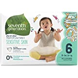 Seventh Generation Baby Diapers, Free & Clear for Sensitive Skin with Animal Prints, Size 6, 80 Count (Packaging May Vary)