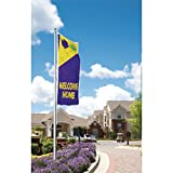 Vertical Welcome Home Flag, Festive, 3' x 8'