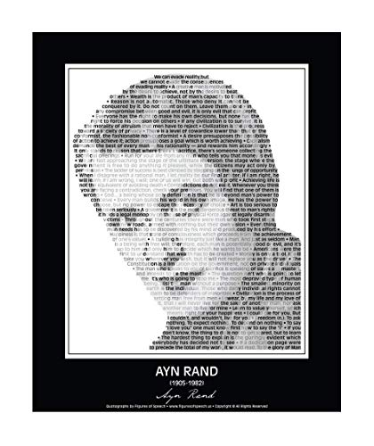 Amazoncom Inspirational Ayn Rand Poster In Her Own Words