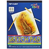 Top Flight 62301 Sketch Pad, Heavy Back, 8.75 x 12-Inches, 50 Sheets (White)
