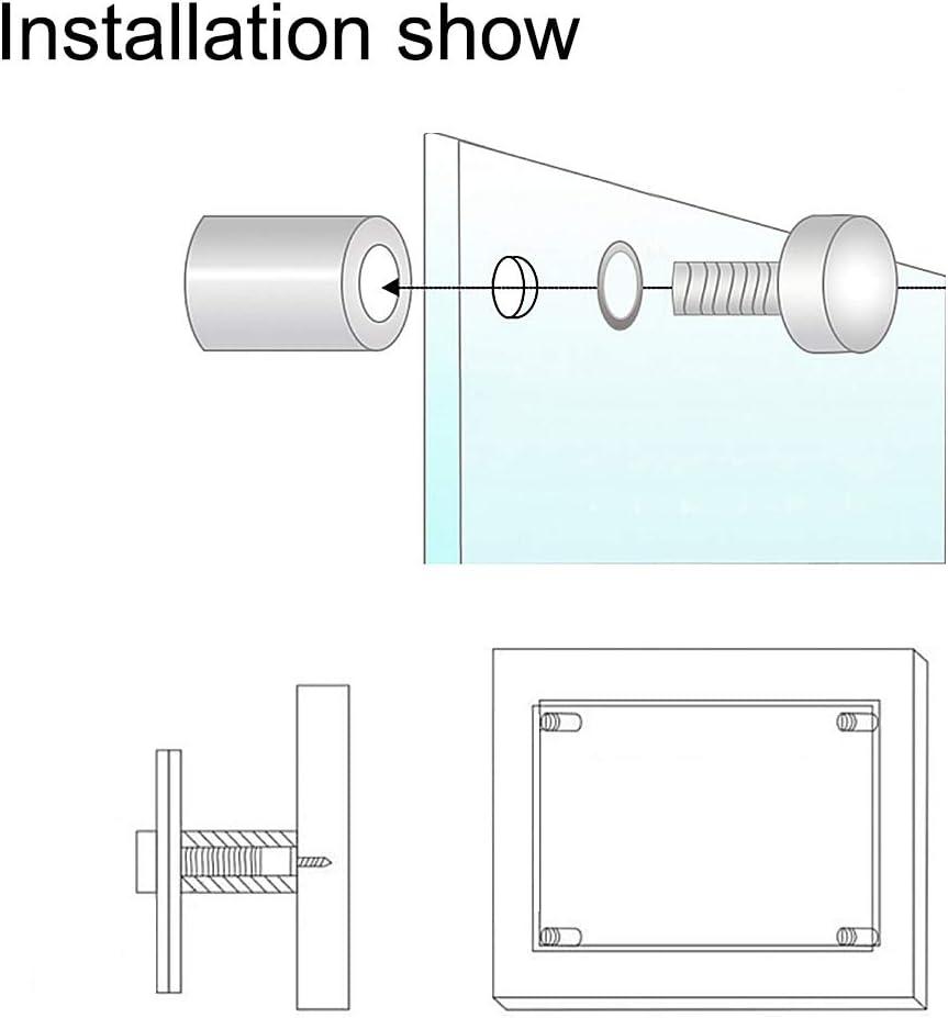 Glasabstandshalter Edelstahl Wandabstandshalter Werben/ägel 40 mm Durchmesser 123 mm L/änge mit Befestigungsschrauben sourcing map 4Stk