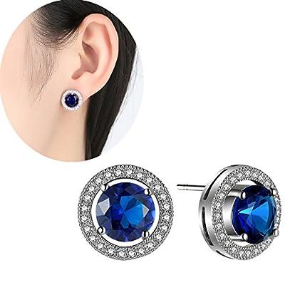 OCTCHOCO Simple Luxury Blue Zircon Earrings