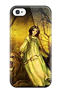 New Style 8863199K292372962 original anime girl lion Anime Pop Culture Hard Plastic For Apple Iphone 4/4S Case Cover