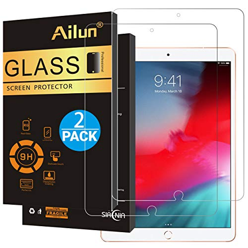 Ailun Screen Protector for iPad Pro 10.5 Inch 2017 iPad Air 3 10.5Inch 2019 2Pack Japanese Glass 0.25MM Premium Tempered Glass Apple Pencil Compatible Anti Scratches Case Friendly
