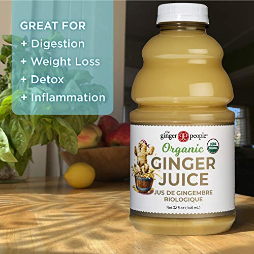 The Ginger People Organic Ginger Juice, 99.7% Pure Ginger Juice, 32 Ounce