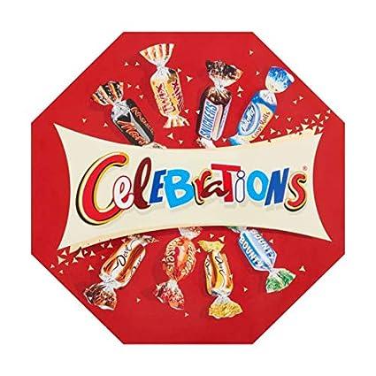 Mars Bonbons assortis Célébrations en boîte octogonale ...