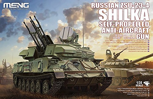 Meng 1:35 Russian ZSU-23-4 Shilka Self Propelled Anti Aircraft Gun Kit #TS023 (Anti Models Air Gun)