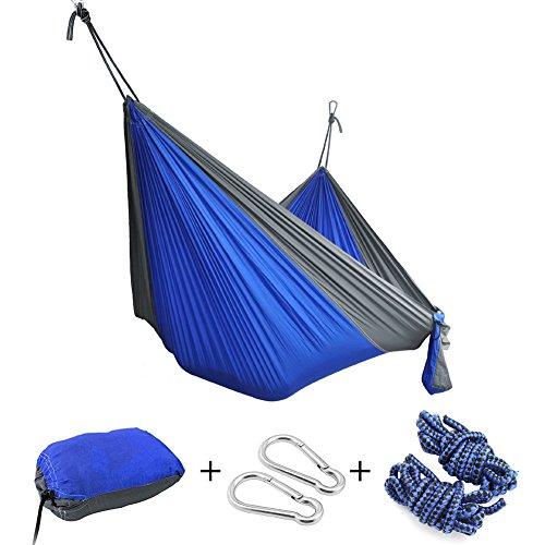 Hängematte,IWMH Ultra-leicht 275*140CM Tragbar Parachute Hängematte Aus Fallschirm-Nylon, Für Reisen Camping Outdoor Garten Strand
