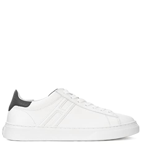 37b6232aa5 Hogan H365 White and Black Leather Sneakers, Size UK: Amazon.co.uk ...
