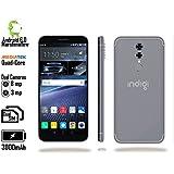 Indigi 4G LTE GSM Unlocked 5.6 Smartphone (4Core 1.2GHz + Android 6 Marshmallow + Fingerprint + Dual SIM + 8MP CAM) - White/Gold