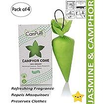 Mangalam CamPure Jasmine Camphor Cone Room Freshener Mosqu