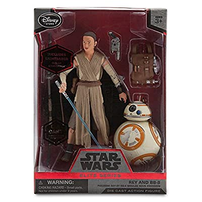Star Wars Rey and BB-8 Elite Series Die Cast Action Figures - 6 Inch - Star Wars: The Force Awakens