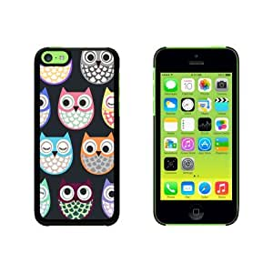 Cute Owls - Owl Pattern Snap On Hard Protective Case for Apple iPhone 5 5s - Black