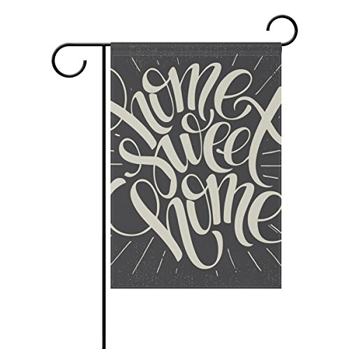 """LEISISI Home Sweet Garden flag 12""""X18"""" Two Sided Yard Decora"""