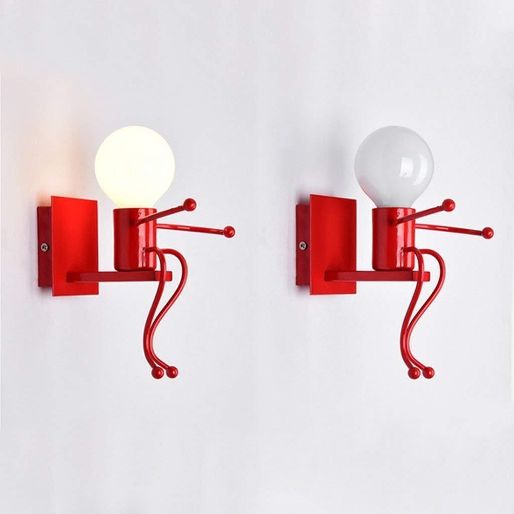 YNG Europäischen Stil Kreative Persönlichkeit Persönlichkeit Persönlichkeit LED Nachttischlampe Moderne Einfache Schlafzimmer Gang Treppen Flur Kinder Wandleuchte B07G378B7J | Kostengünstig  8f839d