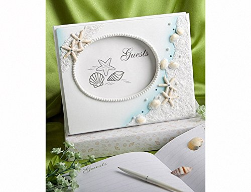 Seashell Wedding Guest Book - Finishing Touches Collection Beach Themed Wedding Guest Book