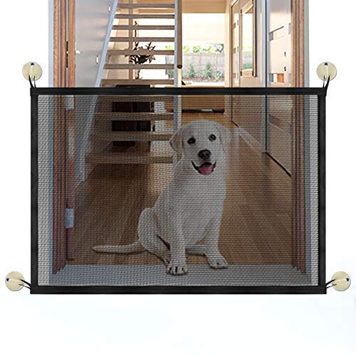 Accmor Magic Gate Baby Safety Gates, Portable Folding Magic gate Install Anywhere Pet Saftey Gate Baby Safety Fence for Hall Doorway Wide Tall