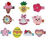 Bundle Monster Stoff Haarclips für Baby Mädchen Stickerei Design (10 Stück) - Set 1: Perfekte Prinzessin, Klein