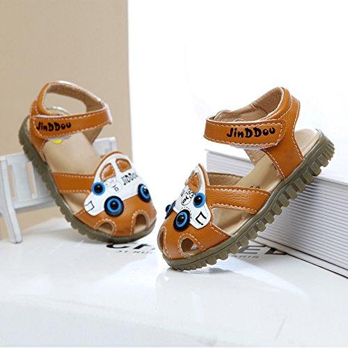 Scothen Niño unsex cuero nobuck bebé sandalia sandalias del bebé zapatos de bebé de los bebés, zapatos, zapatos de bebé del niño de las sandalias de la muchacha del verano zapatos del bebé Yellow