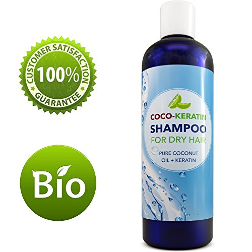 Beauty : Coconut Oil Shampoo with Keratin for Long Thick Hair Growth Premium Dry Hair Conditioning Formula to Moisturize and Strengthen Hair with Vitamins and Antioxidants for Beautiful Healthy Looking Hair