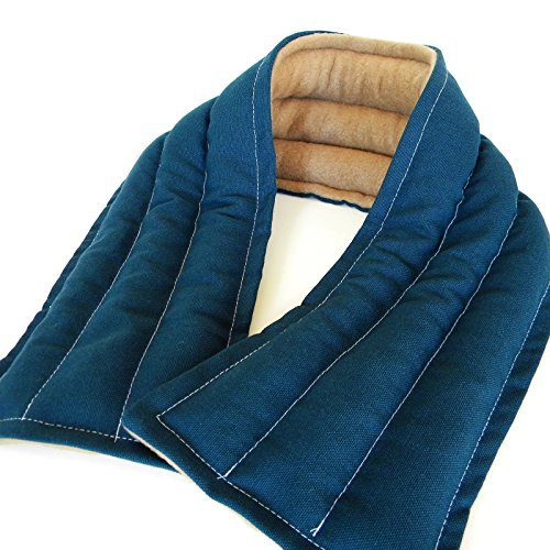 Extra Long Neck Heating Pad, Rice Flax Filled Heated Pillow Wrap